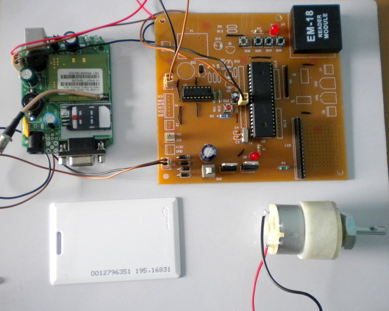 RFID CUM GSM HOME SECURITY SYSTEM